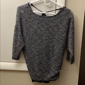 Fun twisted back knit top